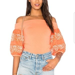 FREE PEOPLE ROCK WITH IT TOP SIZE XS